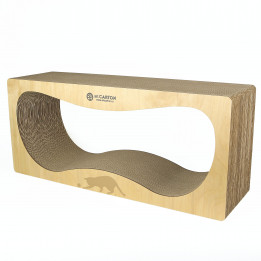 CONTUR STANDART 24 см wood  Когтеточка домик для кошек из картона