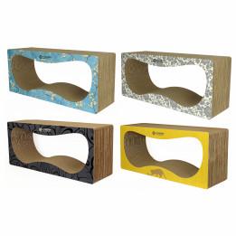 CONTUR STANDART 24 см color    Когтеточка домик для кошек из картона