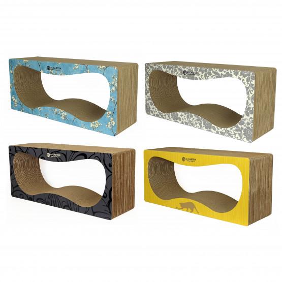 CONTUR MAX 32 см color Когтеточка домик для кошек из картона
