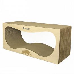 CONTUR MAX 32 см wood  Когтеточка домик для кошек из картона